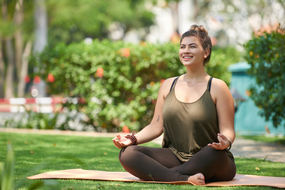 Kapha dosha woman meditating