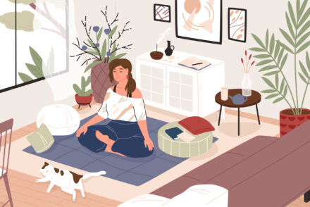 MEDITATE AT HOME how to