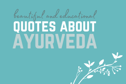 beautiful quotes about ayurveda