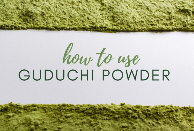 how to use Guduchi powder