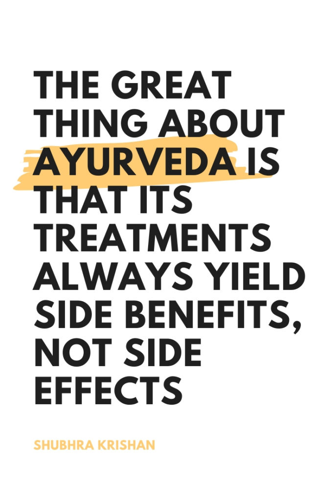 list of beautiful ayurveda quotes