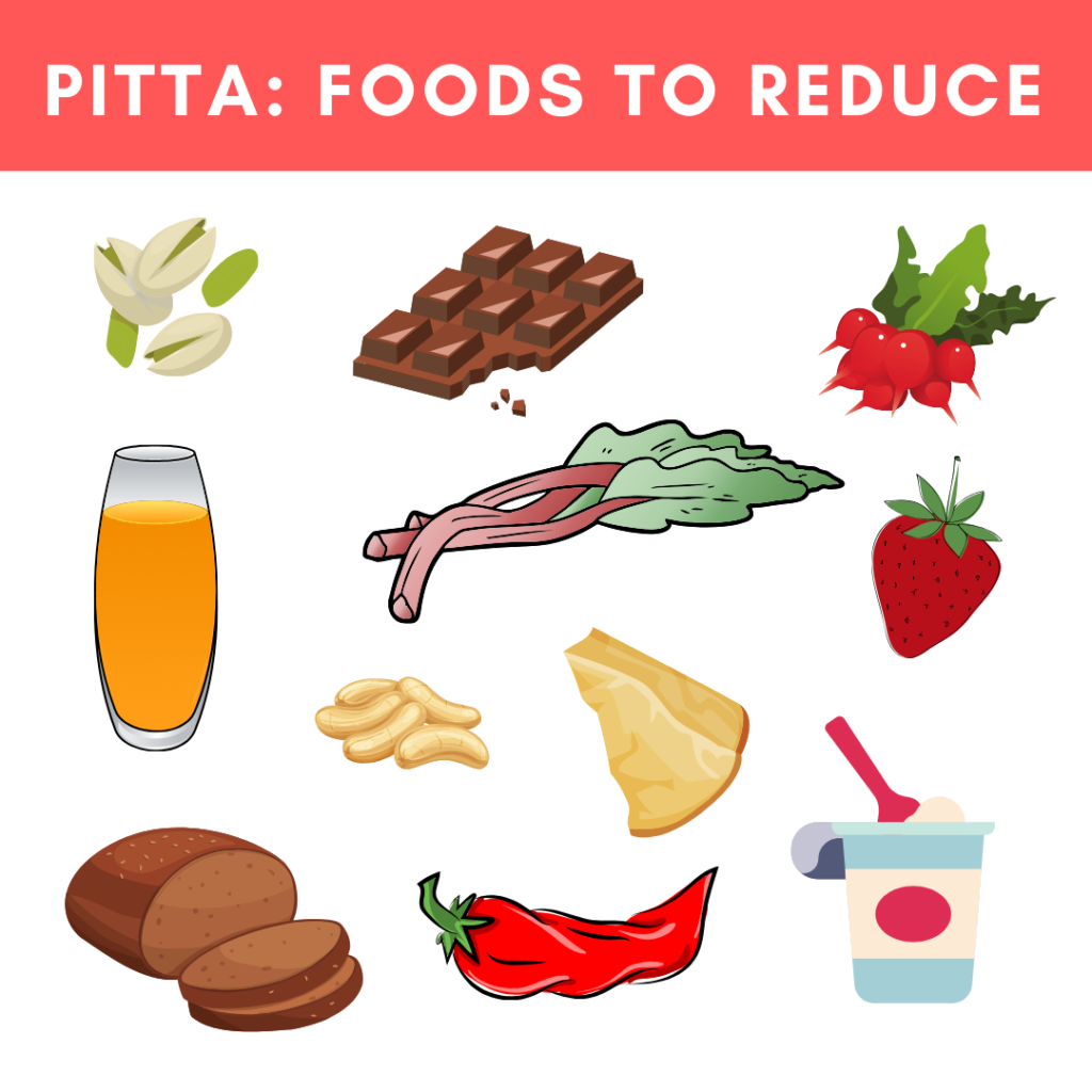 what to avoid for pitta dosha