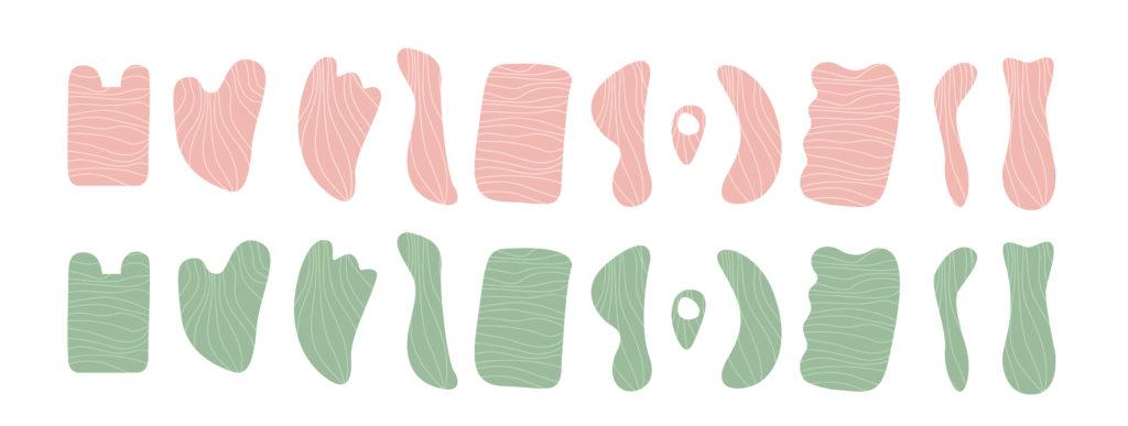 different types of gua sha tools